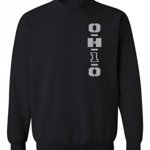 OH1O - Ohio State Buckeyes, Black/Silver, Crew Sweatshirt