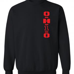 OH1O - Ohio State Buckeyes, Black/Red, Crew Sweatshirt