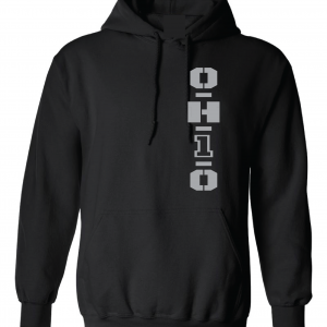 OH1O - Ohio State Buckeyes, Black/Silver, Hoodie