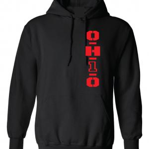 OH1O - Ohio State Buckeyes, Black/Red, Hoodie