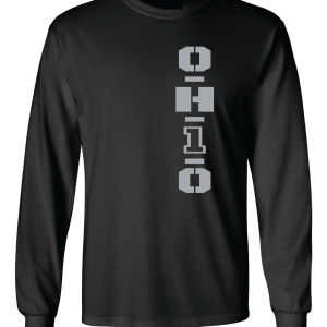 OH1O - Ohio State Buckeyes, Black/Silver, Long-Sleeved