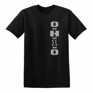 OH1O - Ohio State Buckeyes, Black/Silver, T-Shirt