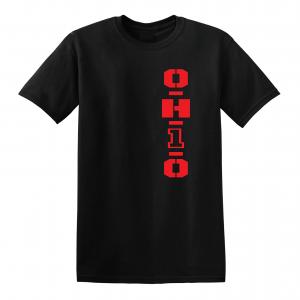 OH1O - Ohio State Buckeyes, Black/Red, T-Shirt