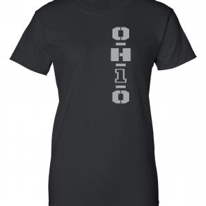 OH1O - Ohio State Buckeyes, Black/Silver, Women's Cut T-Shirt