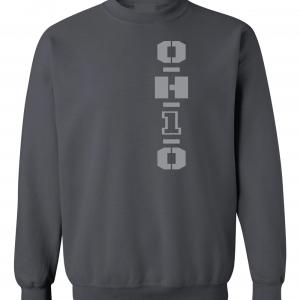 OH1O - Ohio State Buckeyes, Charcoal/Silver, Crew Sweatshirt