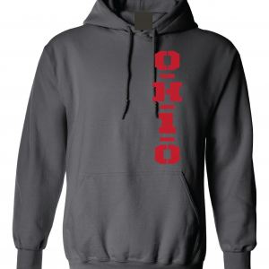 OH1O - Ohio State Buckeyes, Charcoal/Red, Hoodie