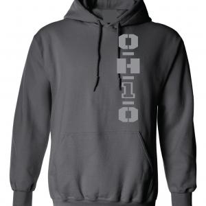 OH1O - Ohio State Buckeyes, Charcoal/Silver, Hoodie