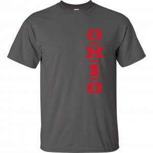 OH1O - Ohio State Buckeyes, Charcoal/Red, T-Shirt