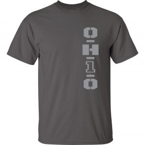 OH1O - Ohio State Buckeyes, Charcoal/Silver, T-Shirt