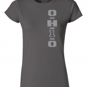 OH1O - Ohio State Buckeyes, Charcoal/Silver, Women's Cut T-Shirt