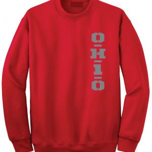 OH1O - Ohio State Buckeyes, Red, Crew Sweatshirt
