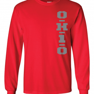 OH1O - Ohio State Buckeyes, Red, Long-Sleeved