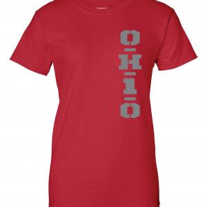OH1O - Ohio State Buckeyes, Red, Women's Cut T-Shirt