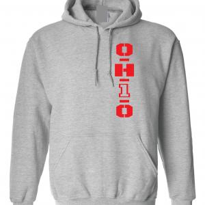 OH1O - Ohio State Buckeyes, Grey, Hoodie