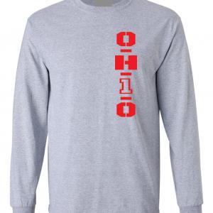 OH1O - Ohio State Buckeyes, Grey, Long-Sleeved