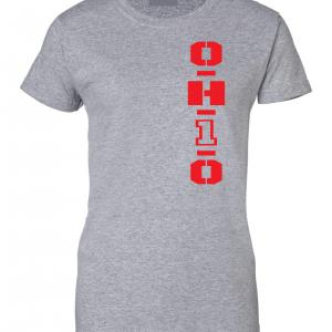 OH1O - Ohio State Buckeyes, Grey, Women's Cut T-Shirt