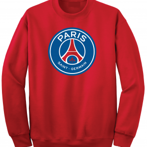 Saint Paris Germain - Soccer, Red, Crew Sweatshirt