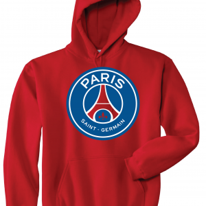 Saint Paris Germain - Soccer, Red, Hoodie
