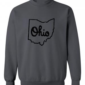 Script Ohio - Ohio State Buckeyes, Charcoal/Black, Crew Sweatshirt