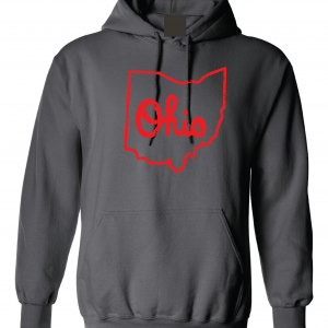 Script Ohio - Ohio State Buckeyes, Charcoal/Red, Hoodie