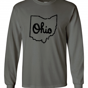Script Ohio - Ohio State Buckeyes, Charcoal/Black, Long-Sleeved