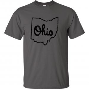 Script Ohio - Ohio State Buckeyes, Charcoal/Black, T-Shirt