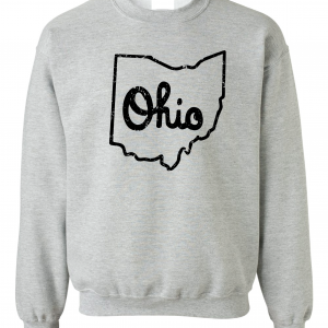 Script Ohio - Ohio State Buckeyes, Grey/Black, Crew Sweatshirt
