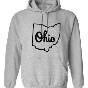Script Ohio - Ohio State Buckeyes, Grey/Black, Hoodie