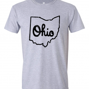 Script Ohio - Ohio State Buckeyes, Grey/Black, T-Shirt