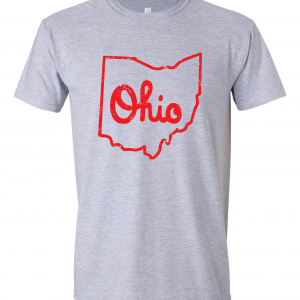 Script Ohio - Ohio State Buckeyes, Grey/Red, T-Shirt