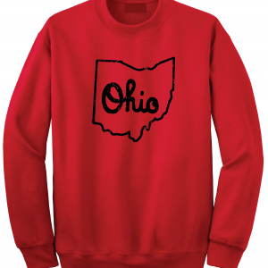 Script Ohio - Ohio State Buckeyes, Red, Crew Sweatshirt
