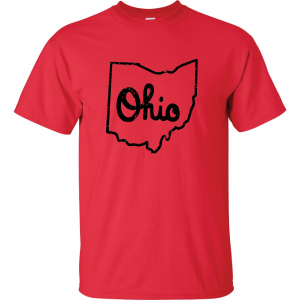Script Ohio - Ohio State Buckeyes, Red, T-Shirt
