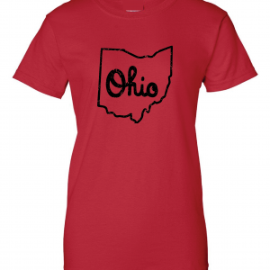 Script Ohio - Ohio State Buckeyes, Red, Women's Cut T-Shirt