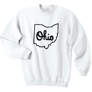 Script Ohio - Ohio State Buckeyes, White/Black, Crew Sweatshirt
