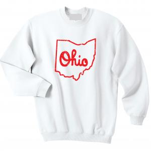 Script Ohio - Ohio State Buckeyes, White/Red, Crew Sweatshirt