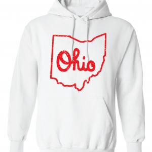 Script Ohio - Ohio State Buckeyes, White/Red, Hoodie