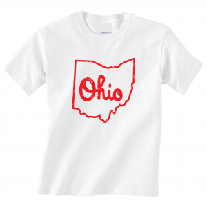 Script Ohio - Ohio State Buckeyes, White/Red, T-Shirt