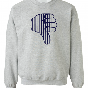 Thumbs Down Yankees, Grey, Crew Sweatshirt