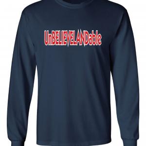 Unbelievelandable - Cleveland Indians, Navy, Long-Sleeved