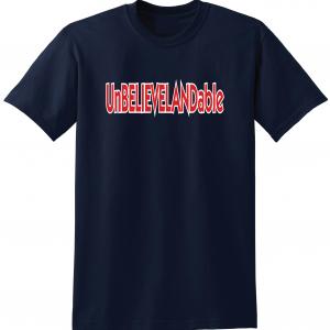 Unbelievelandable - Cleveland Indians, Navy, T-Shirt