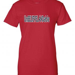 Unbelievelandable - Cleveland Indians, Red, Women's Cut T-Shirt