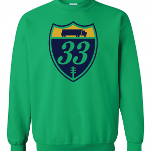 33 Trucking - Josh Adams, Green, Crew Sweatshirt