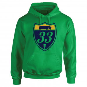 33 Trucking - Josh Adams, Green, Hoodie