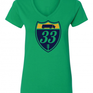 33 Trucking - Josh Adams, Green, Women's Cut T-Shirt