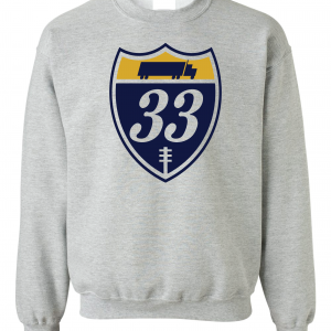 33 Trucking - Josh Adams, Grey, Crew Sweatshirt