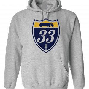 33 Trucking - Josh Adams, Grey, Hoodie