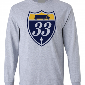 33 Trucking - Josh Adams, Grey, Long-Sleeved