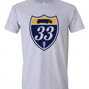 33 Trucking - Josh Adams, Grey, T-Shirt