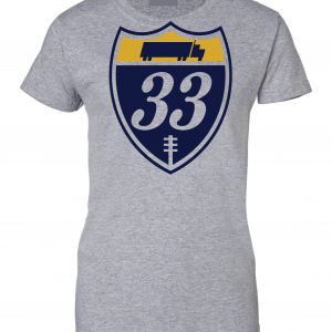 33 Trucking - Josh Adams, Grey, Women's Cut T-Shirt