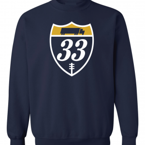 33 Trucking - Josh Adams, Navy, Crew Sweatshirt